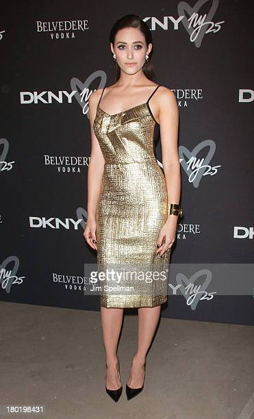 Actress Emmy Rossum attends the #DKNY25 Birthday Bash at 23 Wall Street on September 9 2013 in New York City