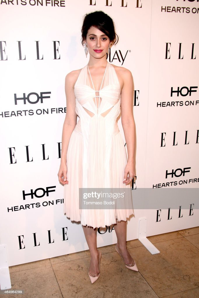 Actress Emmy Rossum attends the ELLE Women In Television Celebration held at the Sunset Tower on January 22, 2014 in West Hollywood, California.