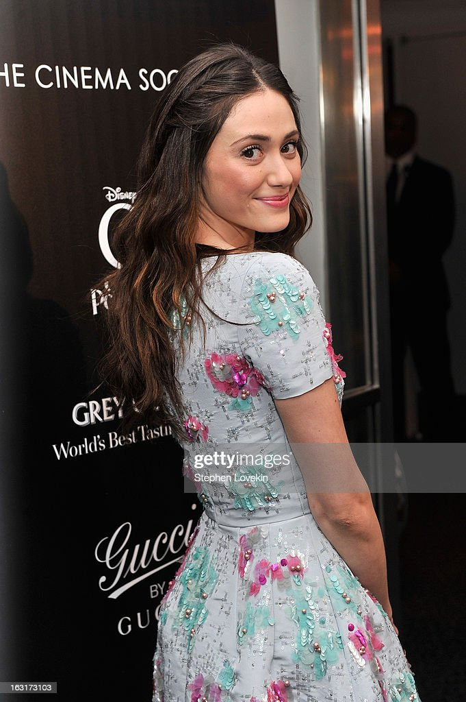 Actress Emmy Rossum attends the Gucci and The Cinema Society screening of 'Oz the Great and Powerful' at the DGA Theater on March 5, 2013 in New York City.