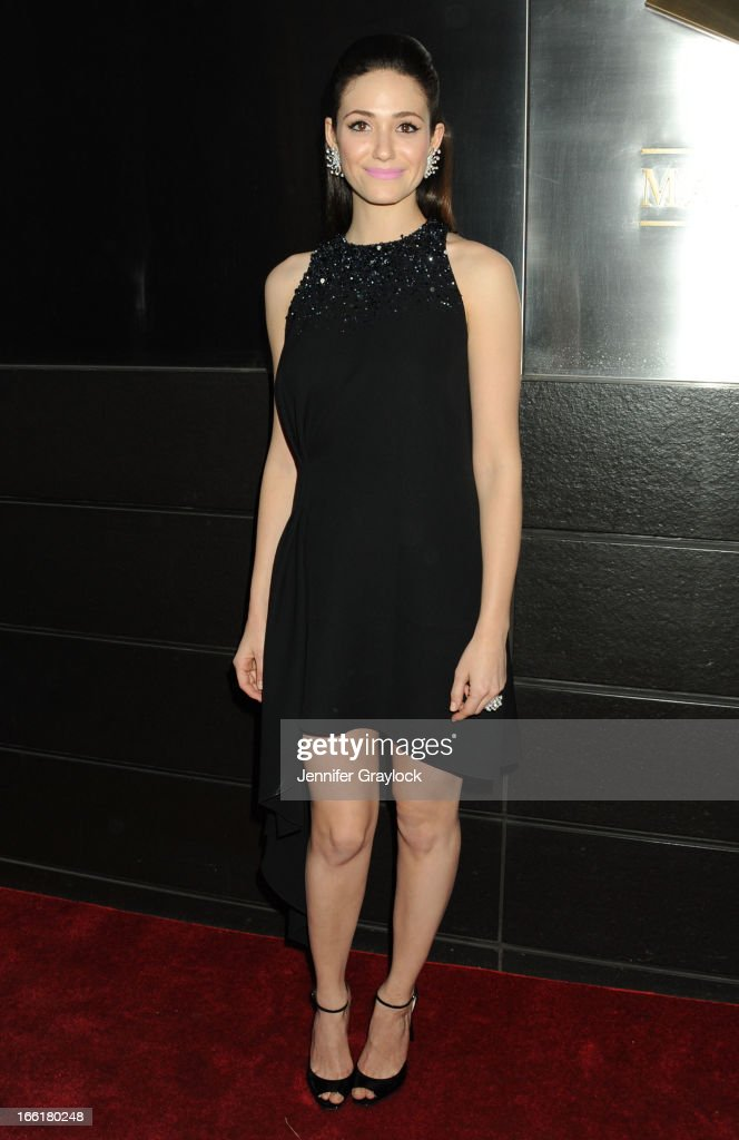 Actress <a gi-track='captionPersonalityLinkClicked' href=/galleries/search?phrase=Emmy+Rossum&family=editorial&specificpeople=202563 ng-click='$event.stopPropagation()'>Emmy Rossum</a> attends the New Yorkers for Children 10th Anniversary Spring Dinner Dance New Year's in April: A Fool's Fete to benefit youth in foster care presented by Valentino at Mandarin Oriental Hotel on April 9, 2013 in New York City.