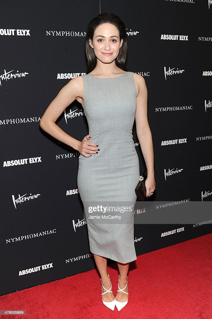 Actress Emmy Rossum attends the 'Nymphomaniac: Volume I' New York screening at Museum of Modern Art on March 13, 2014 in New York City.