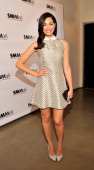 Actress Emmy Rossum attends the Santa Monica Museum Of Art's 'Precognito' at the Santa Monica Museum of Art on April 23 2014 in Santa Monica...