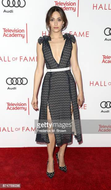 Actress Emmy Rossum attends the Television Academy's 24th Hall of Fame Ceremony at the Saban Media Center on November 15 2017 in North Hollywood...