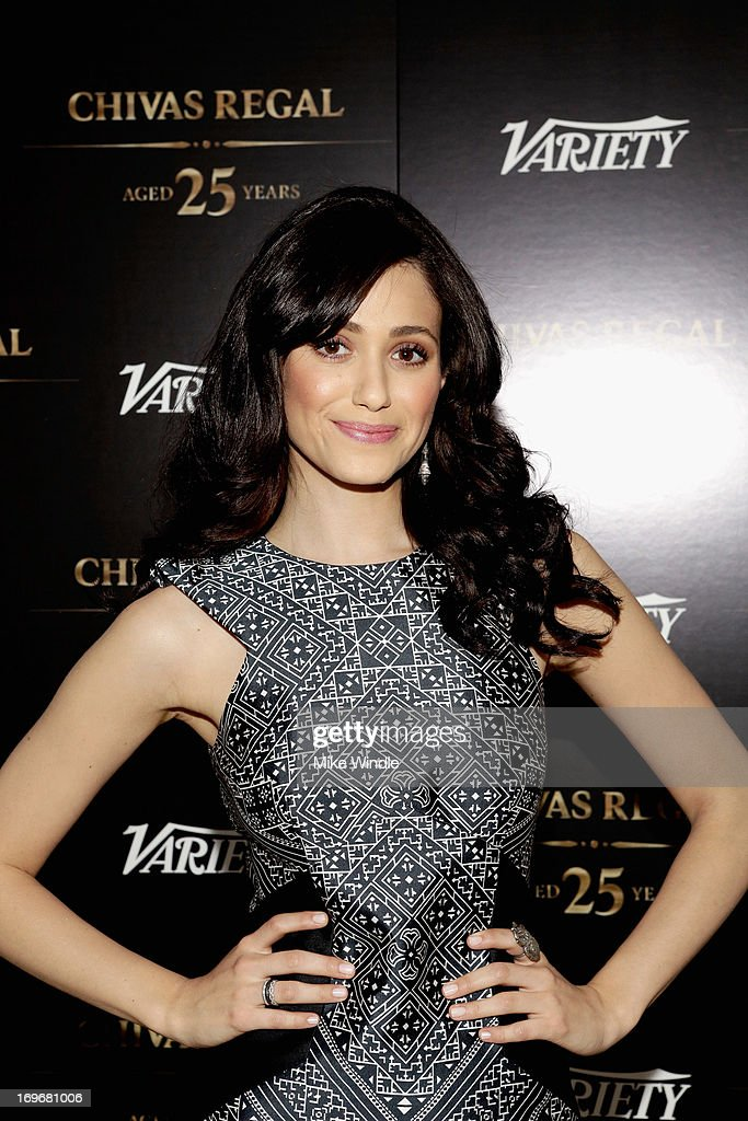Actress <a gi-track='captionPersonalityLinkClicked' href=/galleries/search?phrase=Emmy+Rossum&family=editorial&specificpeople=202563 ng-click='$event.stopPropagation()'>Emmy Rossum</a> attends the Variety Emmy Studio at Palihouse on May 30, 2013 in West Hollywood, California.