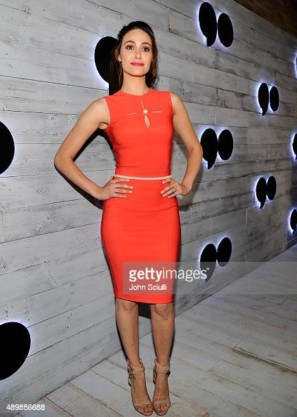 Actress Emmy Rossum attends the VIP sneak peek of the go90 Social Entertainment Platform at the Wallis Annenberg Center for the Performing Arts on...