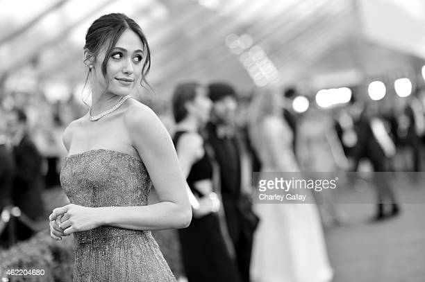 Actress Emmy Rossum attends TNT's 21st Annual Screen Actors Guild Awards at The Shrine Auditorium on January 25 2015 in Los Angeles California...