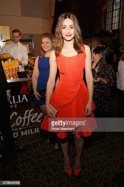 Actress Emmy Rossum attends Variety's Power Of Women New York Brought To You by Gevalia at Cipriani 42nd Street on April 24 2015 in New York City
