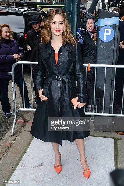 Actress Emmy Rossum enters Cipriani 42nd Street on April 24 2015 in New York City