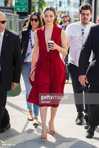 Actress Emmy Rossum is seen in the Meat Packing District on May 21 2017 in New York City