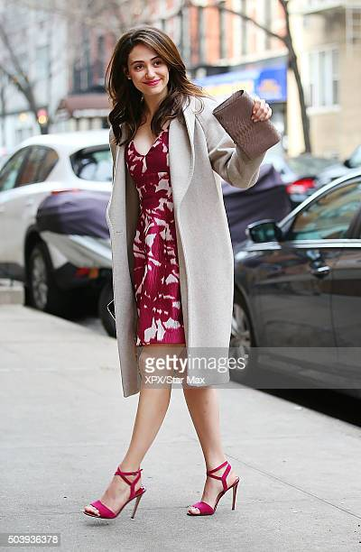 Actress Emmy Rossum is seen on January 7 2016 in New York City