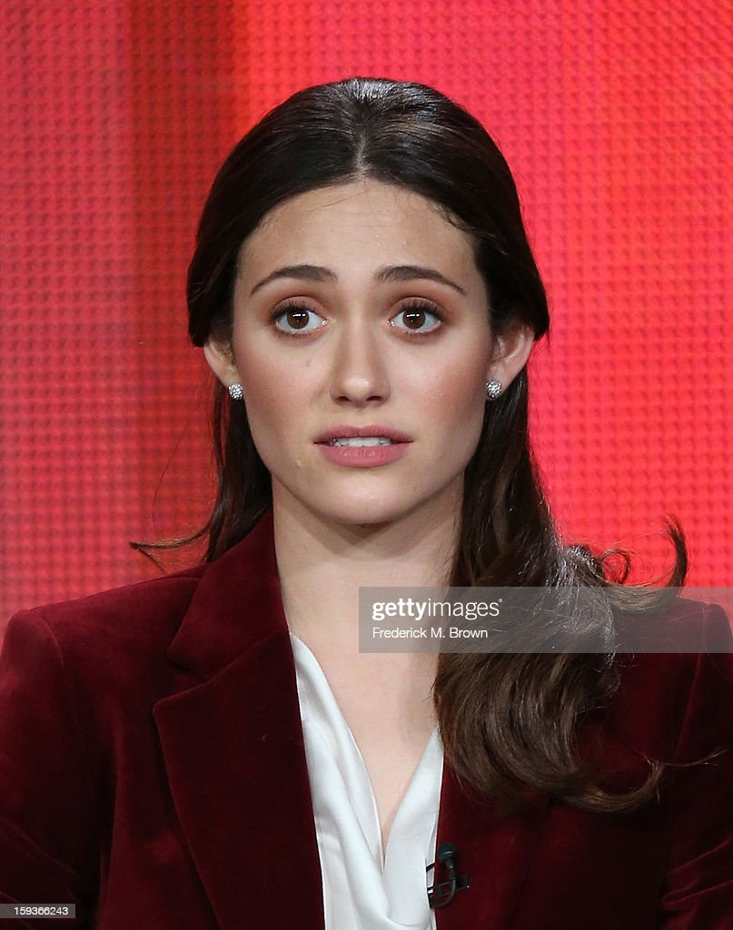 Actress Emmy Rossum of 'Shameless' speaks onstage during the Showtime portion of the 2013 Winter TCA Tour at Langham Hotel on January 12, 2013 in Pasadena, California.