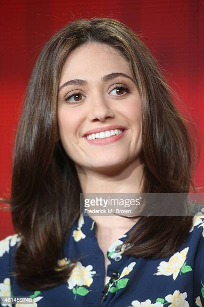 Actress Emmy Rossum speaks onstage during the 'Sexuality and Television A Female Perspective'' panel as part of the CBS/Showtime 2015 Winter...