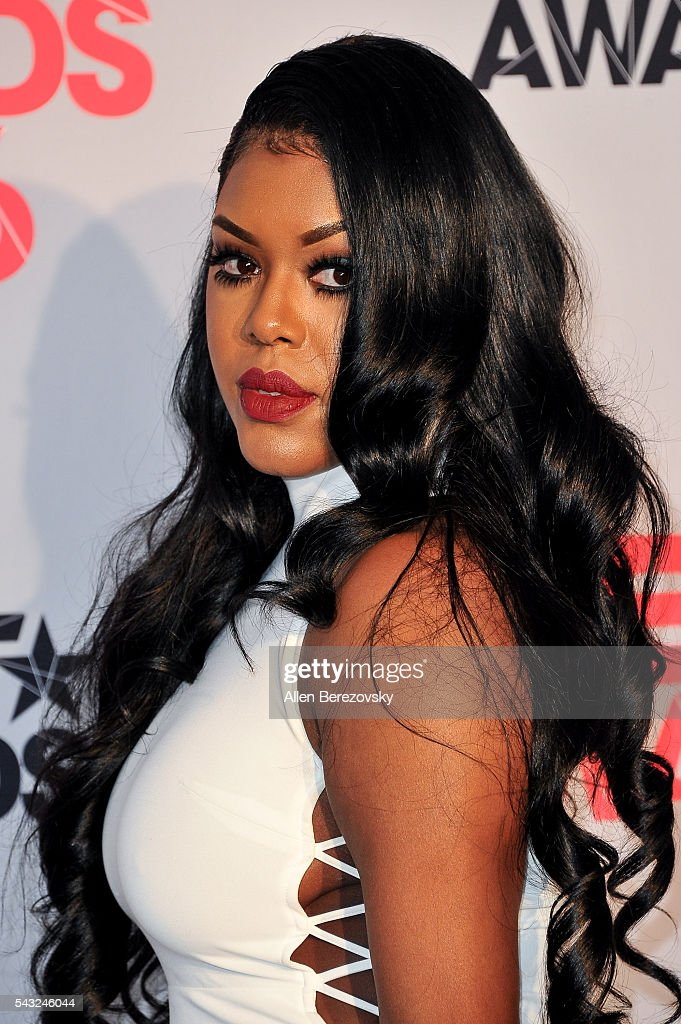 Actress Eny Oh of 'F In Fabulous' poses for pictures in the press room during the 2016 BET Awards at Microsoft Theater on June 26, 2016 in Los Angeles, California.