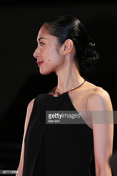 Actress Eri Fukatsu arrives at the opening ceremony during the 27th Tokyo International Film Festival at Roppongi Hills on October 23 2014 in Tokyo...