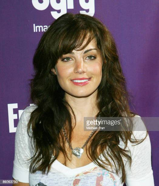 Actress Erica Durance arrives at the EW and Syfy ComicCon party held at the Hotel Solamar July 25 2009 in San Diego California