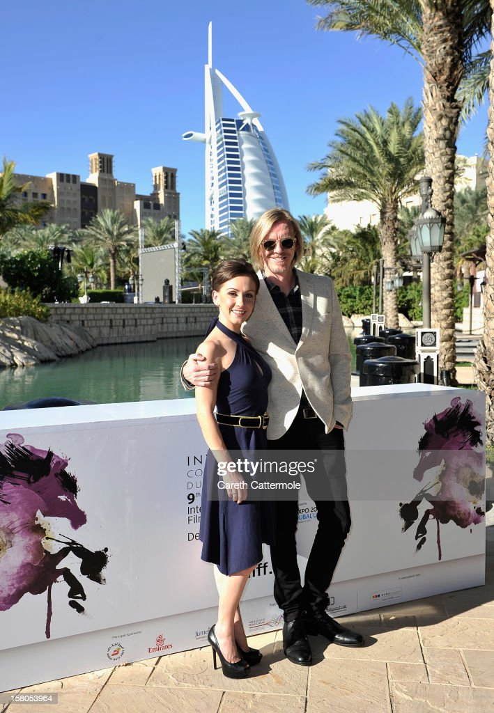 Actress Erica Linz and director <a gi-track='captionPersonalityLinkClicked' href=/galleries/search?phrase=Andrew+Adamson&family=editorial&specificpeople=770048 ng-click='$event.stopPropagation()'>Andrew Adamson</a> attends the 'Cirque du Soleil: Worlds Away 3D' photocall during day two of the 9th Annual Dubai International Film Festival held at the Madinat Jumeriah Complex on December 10, 2012 in Dubai, United Arab Emirates.