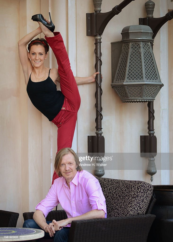 Actress Erica Linz and director <a gi-track='captionPersonalityLinkClicked' href=/galleries/search?phrase=Andrew+Adamson&family=editorial&specificpeople=770048 ng-click='$event.stopPropagation()'>Andrew Adamson</a> during a portrait session on day three of the 9th Annual Dubai International Film Festival held at the Madinat Jumeriah Complex on December 11, 2012 in Dubai, United Arab Emirates.