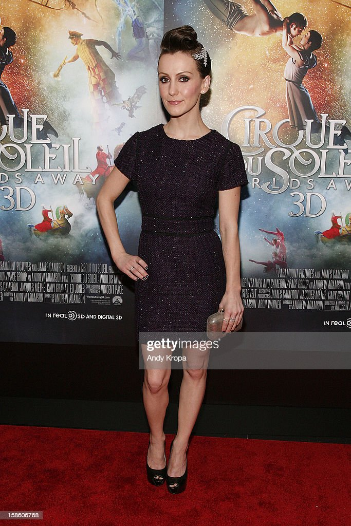 Actress Erica Linz attends 'Cirque Du Soleil: Worlds Away' New York Special Screening at Regal E-Walk on December 20, 2012 in New York City.