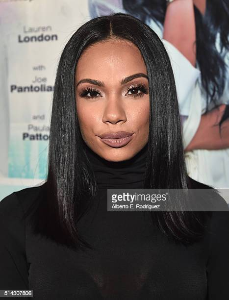 Actress Erica Mena attends the premiere of Lionsgate's 'The Perfect Match' at ArcLight Hollywood on March 7 2016 in Hollywood California