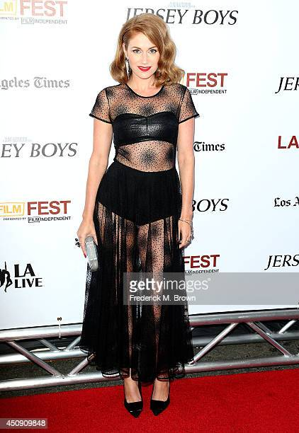 Actress Erica Piccininni attends the 2014 Los Angeles Film Festival Premiere of Warner Bros Pictures' 'Jersey Boys' at the Regal Cinemas LA Live on...