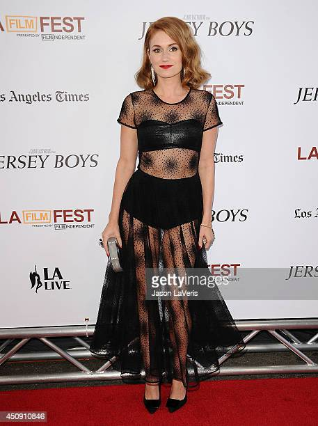 Actress Erica Piccininni attends the 2014 Los Angeles Film Festival closing night film premiere of 'Jersey Boys' at Premiere House on June 19 2014 in...