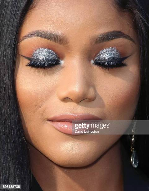 Actress Erica Pinkett eye shadow detail attends the premiere of Lionsgate's 'All Eyez On Me' on June 14 2017 in Los Angeles California