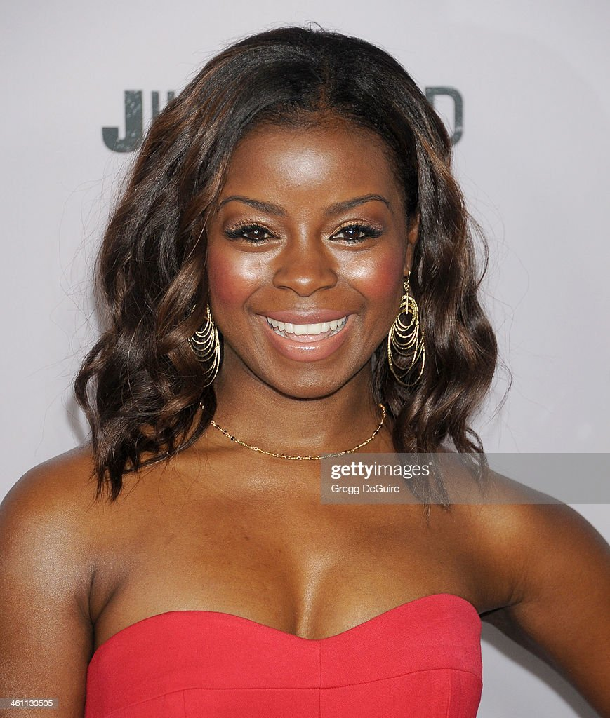Actress Erica Tazel arrives at the Los Angeles premiere of FX 'Justified' at DGA Theater on January 6, 2014 in Los Angeles, California.