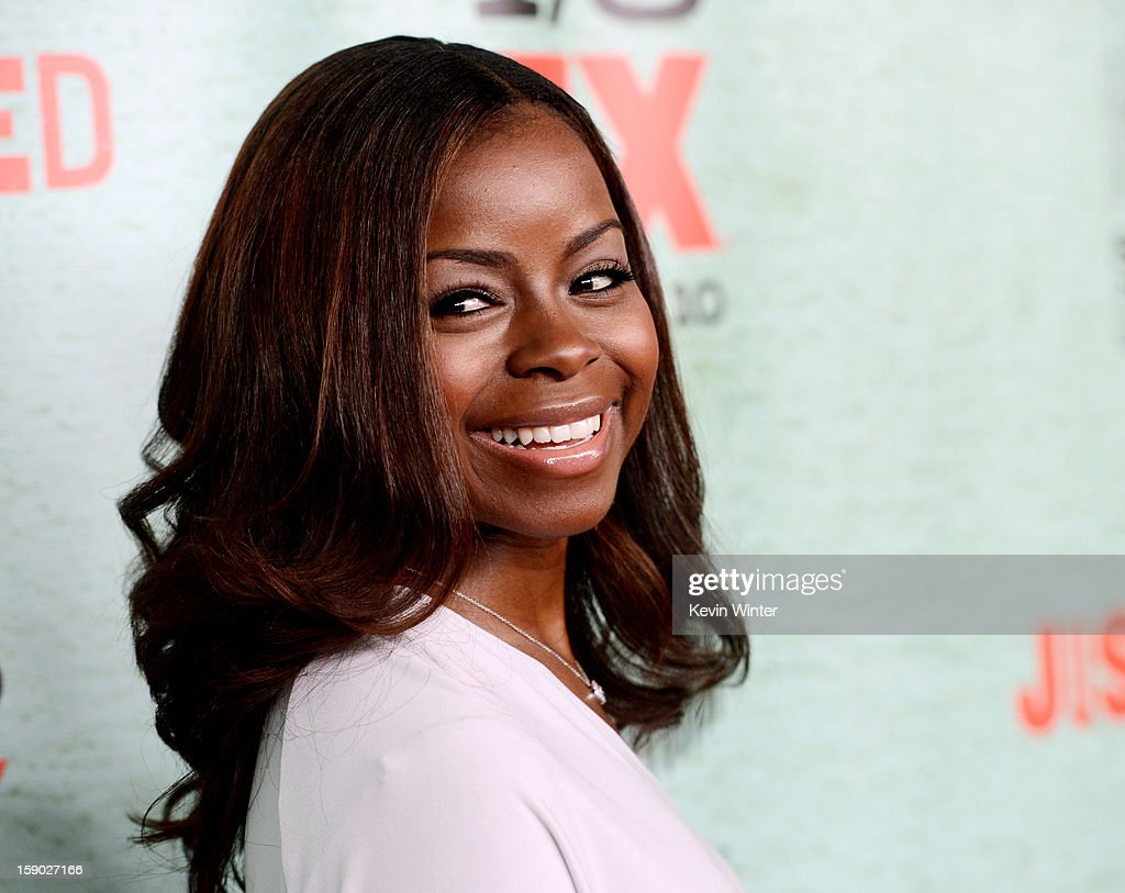 Actress Erica Tazel arrives at the premiere of FX's 'Justified' Season 4 at Paramount Studios on January 5, 2013 in Los Angeles, California.