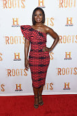 Actress Erica Tazel attends the 'Roots' night one screening at Alice Tully Hall Lincoln Center on May 23 2016 in New York City