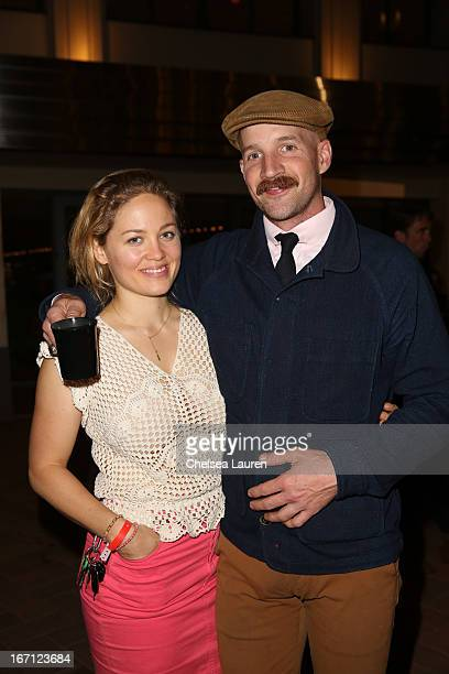 Actress Erika Christensen and Cole Maness attend City Year Los Angeles' spring break destination education at Sony Pictures Studios on April 20 2013...