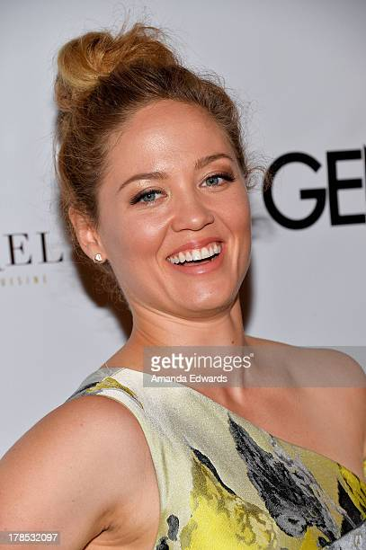 Actress Erika Christensen arrives at the Genlux Magazine release party with Erika Christensen at Sofitel Hotel on August 29 2013 in Los Angeles...