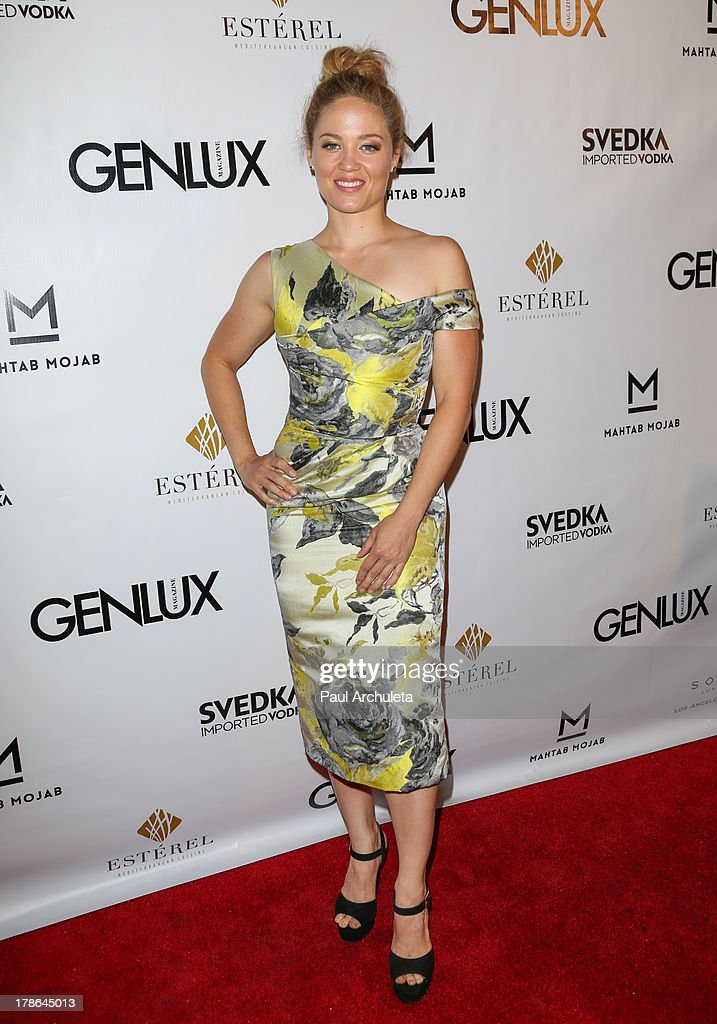 Actress <a gi-track='captionPersonalityLinkClicked' href=/galleries/search?phrase=Erika+Christensen&family=editorial&specificpeople=202168 ng-click='$event.stopPropagation()'>Erika Christensen</a> attends the Genlux Magazine release party at Sofitel Hotel on August 29, 2013 in Los Angeles, California.