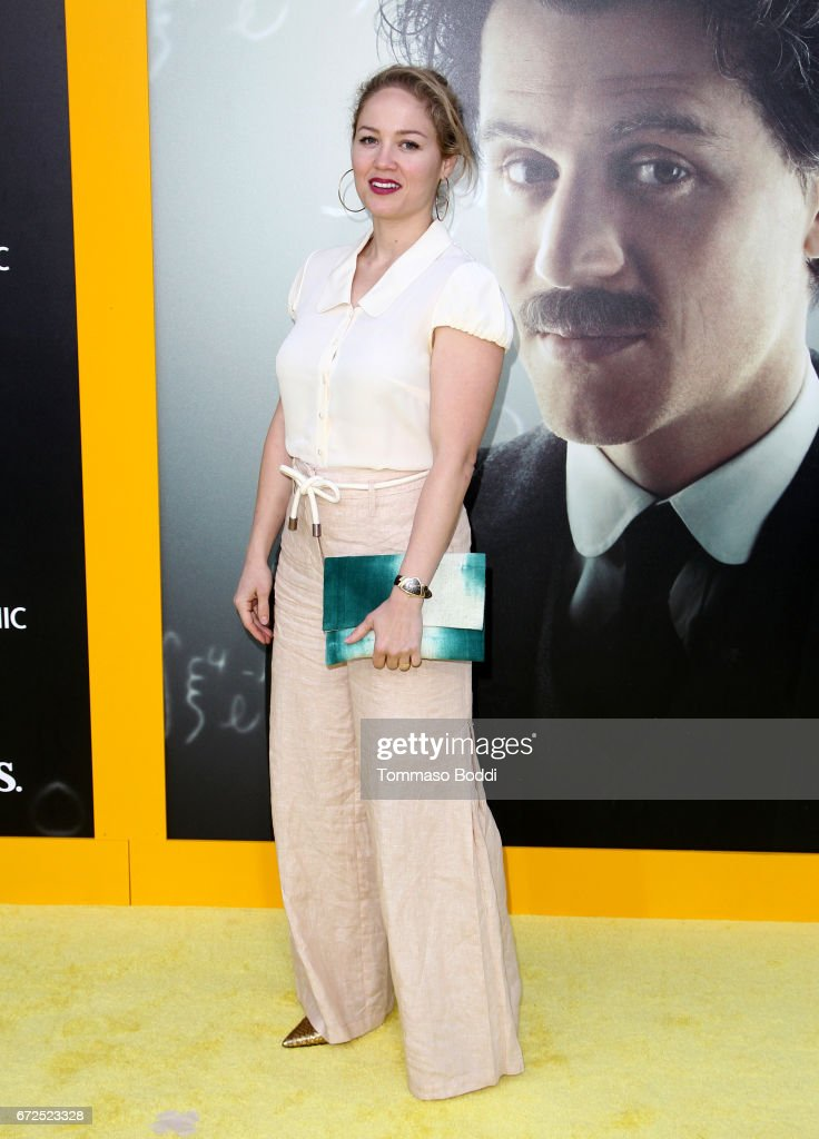 Actress Erika Christensen attends the Los Angeles Premiere Screening of National Geographics 'Genius' the Fox Theater on April 24, 2017 in Los Angeles, California.