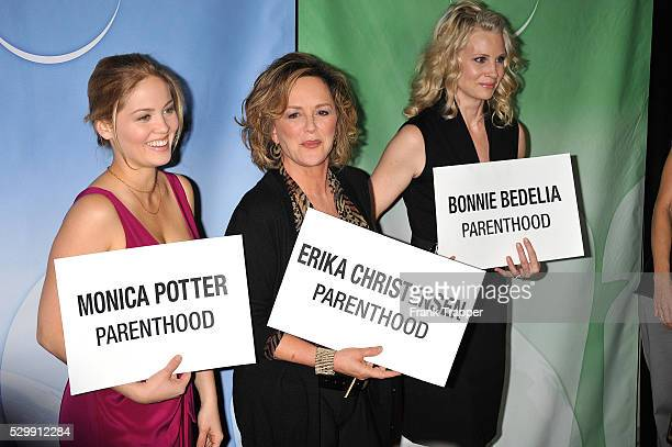 Actress' Erika Christensen Bonnie Bedelia and Monica Potter attend the NBC Universal Press Tour Cocktail party held at Landham Huntington Hotel Spa...