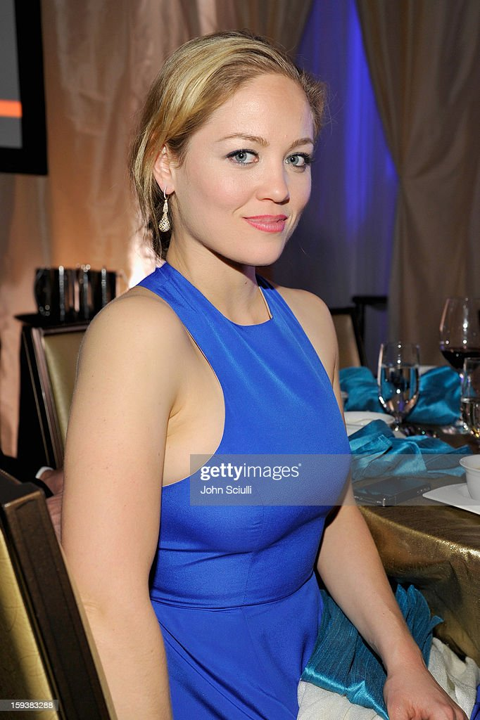 Actress Erika Christensen onstage during the 2013 G'Day USA Los Angeles Black Tie Gala at JW Marriott Los Angeles at L.A. LIVE on January 12, 2013 in Los Angeles, California.