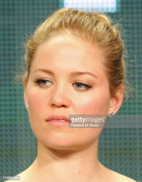 Actress Erika Christensen speaks onstage during the 'Parenthood' panel discussion at the NBC portion of the 2013 Summer Television Critics...