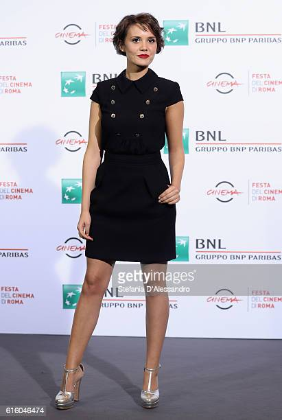 Actress Erika D'Ambrosio attends a photocall for '7 Minuti' during the 11th Rome Film Festival at Auditorium Parco Della Musica on October 21 2016 in...