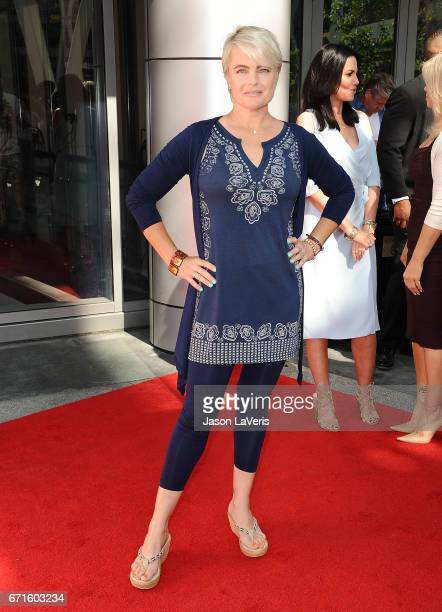 Actress Erika Eleniak attends the 'Baywatch' SlowMo Marathon at Microsoft Square on April 22 2017 in Los Angeles California