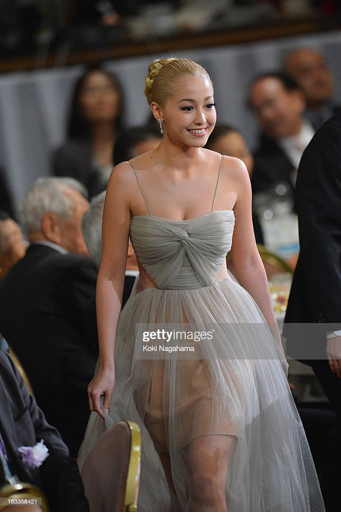 Actress Erika Sawajiri attends the 36th Japan Academy Prize Award Ceremony at Grand Prince Hotel Shin Takanawa on March 8, 2013 in Tokyo, Japan.