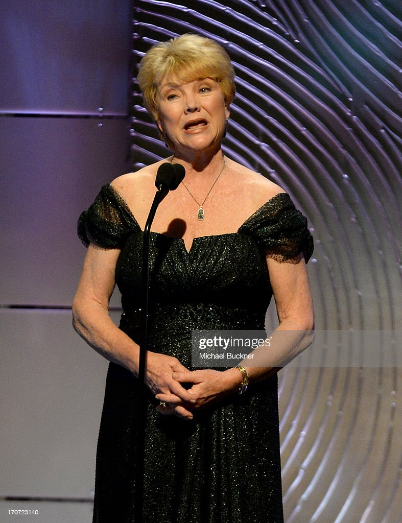 Actress <a gi-track='captionPersonalityLinkClicked' href=/galleries/search?phrase=Erika+Slezak&family=editorial&specificpeople=653967 ng-click='$event.stopPropagation()'>Erika Slezak</a> speaks onstage during the 40th Annual Daytime Emmy Awards at the Beverly Hilton Hotel on June 16, 2013 in Beverly Hills, California. 23774_001_2628.JPG