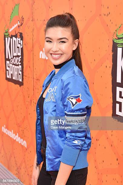 Actress Erika Tham attends the Nickelodeon Kids' Choice Sports Awards 2016 at UCLA's Pauley Pavilion on July 14 2016 in Westwood California
