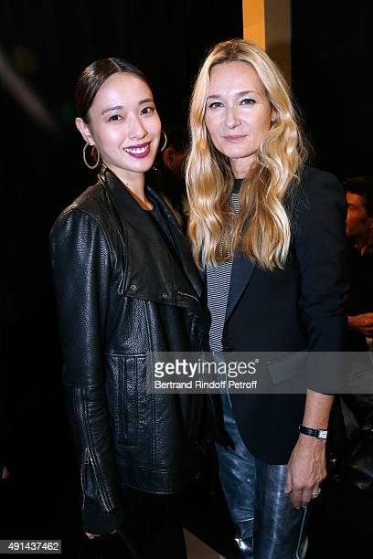 Actress Erika Toda and Fashion Designer Julie de Libran attend the Sonia Rykiel show as part of the Paris Fashion Week Womenswear Spring/Summer 2016...