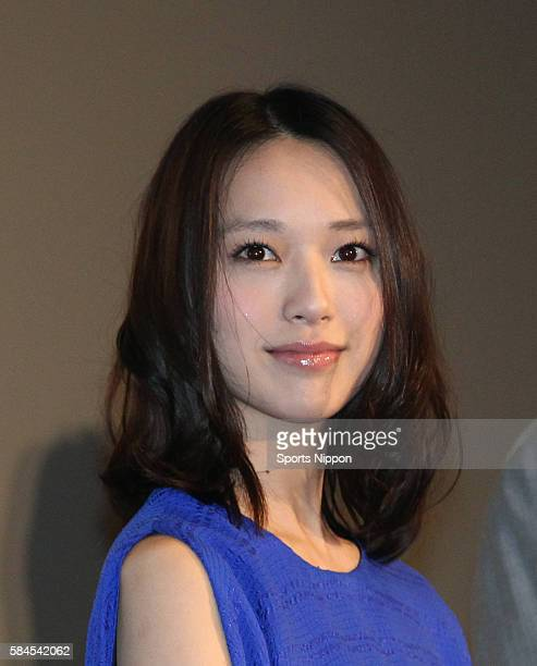 Actress Erika Toda attends opening day greeting of the 'SPEC Heaven' on May 4 2012 in Tokyo Japan