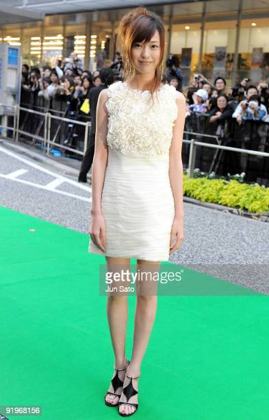 Actress Erika Toda attends the 22nd Tokyo International Film Festival Opening Ceremony at Roppongi Hills on October 17 2009 in Tokyo Japan TIFF takes...