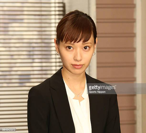 Actress Erika Toda attends the Fuji TV program press conference on June 25 2015 in Tokyo Japan