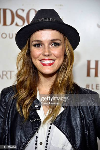 Actress Erin Cahill arrives at Hudson Jeans Presents The Art of Elysium's Genesis Celebrating Emerging Artists at Siren Cube on September 20 2013 in...