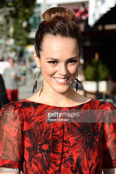 Actress Erin Cahill attends HM's Exclusive Conscious Exclusive Collection launch party hosted by Victoria Justice at HM Sunset Strip on April 4 2013...