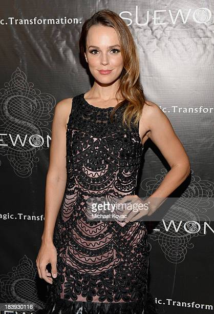 Actress Erin Cahill attends Sue Wong 'Jazz Babies' Spring 2014 Runway Show on October 9 2013 in Los Angeles California