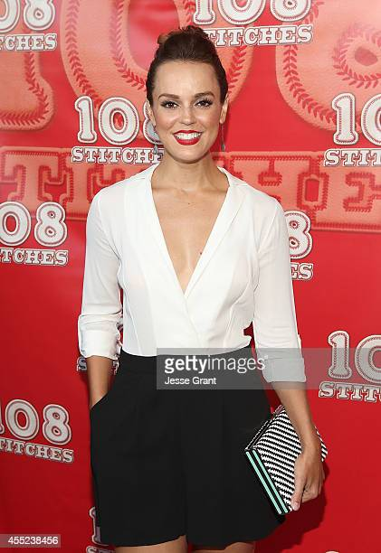 Actress Erin Cahill attends the '108 Stitches' Screening Party Screening Party held at Harmony Gold Theatre on September 10 2014 in Los Angeles...