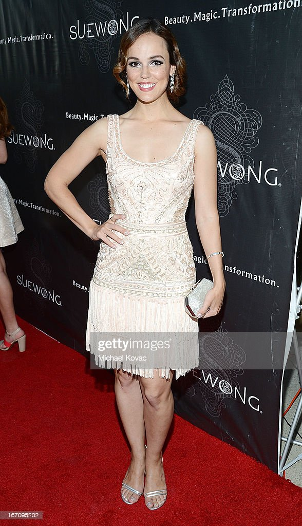 Actress Erin Cahill attends the Sue Wong Fall 2013 Great Gatsby Collection Unveiling and Birthday Celebration on April 19, 2013 in Los Angeles, California.